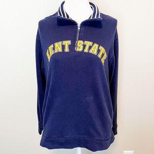 PINK Kent State Navy Half Zip College Pullover